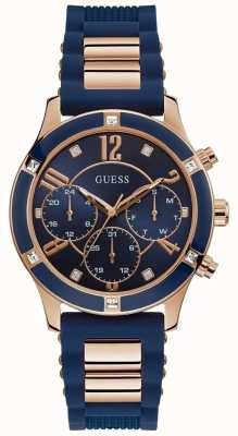 Guess | Womens Breeze | Blue Rubber Strap | Blue Dial | W1234L4