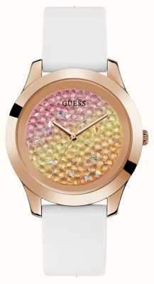 Guess | Womens Crush | White Rubber Strap | Multi-colour Dial | W1223L3