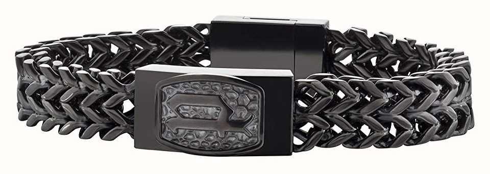 Police Mens Black PVD Plated Steel Bracelet 25693BSB/02-L