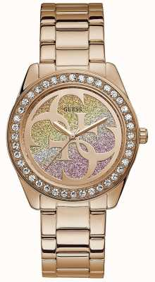 Guess | Womens G-Twist | Rose Gold Stainless Steel | Two Tone Dial W1201L3