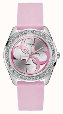 Guess | Womens G-Twist | Pink Rubber Strap | Two Tone Dial | W1240L1