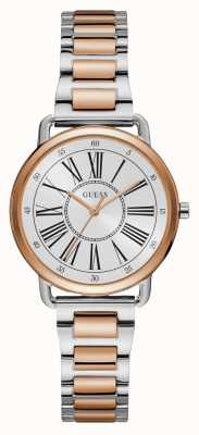 Guess | Womens Jackie | Two Tone Bracelet | White Dial | W1148L4