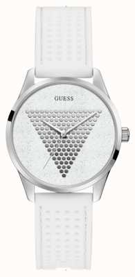 Guess | Womens Mini Imprint | White Rubber Strap | White Dial | W1227L1
