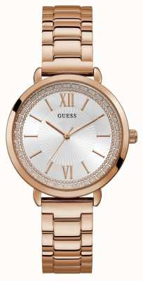Guess | Womens Posh | Rose Gold Bracelet | Silver Dial | W1231L3