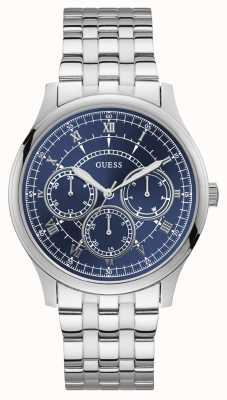 Guess | Mens Conrad | Stainless Steel Bracelet | Blue Dial | W1180G3