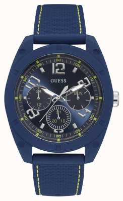 Guess | Mens Dash | Blue Rubber Strap | Blue Dial | W1256G3