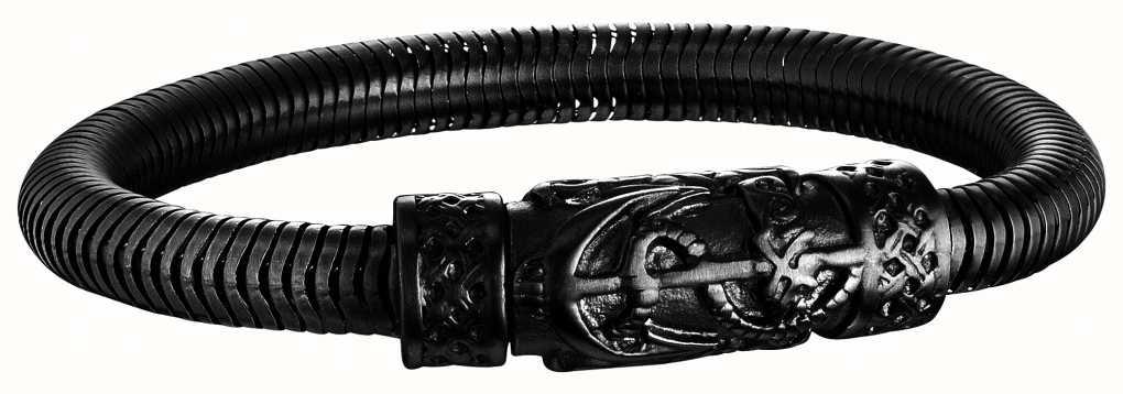 Police Mens Harbour Black PVD Plated Steel Bracelet 25924BSB/01-L