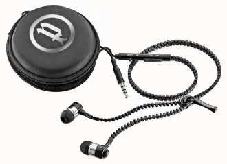 Police Zip Earphones With Mic Volume Control PL-EARPHONE-ZIP