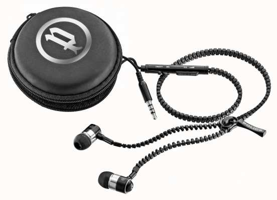 Police Zip Earphones With Mic Volume Control PL-EARPHONE-ZIP