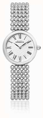 Michel Herbelin Womens 27mm Stainless Steel Bracelet Pearl Dial 17483/B08