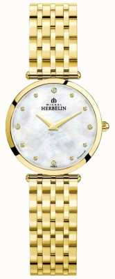 Michel Herbelin | Womens | Epsilon | Mother Of Pearl Dial | Gold Bracelet | 17116/BP89