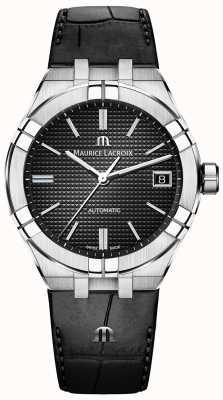 Maurice Lacroix Aikon Automatic Black Dial Black Leather AI6007-SS001-330-1