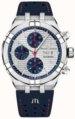 Maurice Lacroix Aikon Automatic Limited Edition Blue/Red Dial Blue Strap AI6038-SS001-133-1
