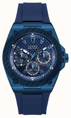 Guess | Mens Legacy | Blue Rubber Strap | Blue Dial | W1049G7