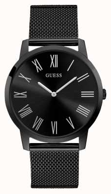Guess | Mens Richmond | Black Steel Mesh Strap | Black Dial | W1263G3