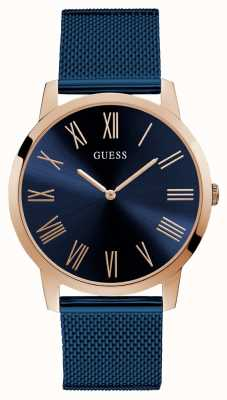 Guess | Mens Richmond | Blue Steel Mesh Strap | Blue Dial | W1263G4
