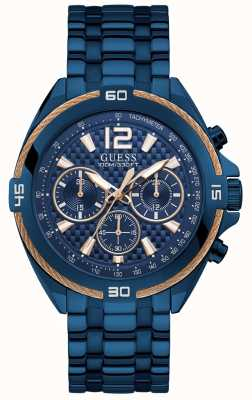 Guess | Mens Surge | Blue Stainless Steel Strap | Blue Dial | W1258G3