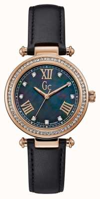 Gc | Womens PrimeChic | Black Leather Strap | Mother Of Pearl Y46005L2MF
