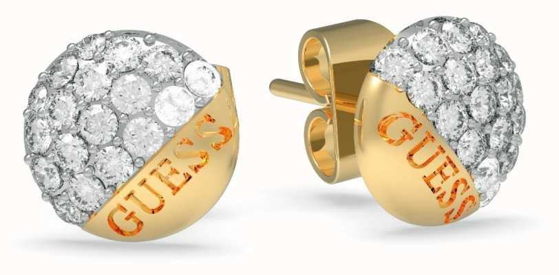 Guess | Embrace Crystal Button Earrings | Gold | UBE78049