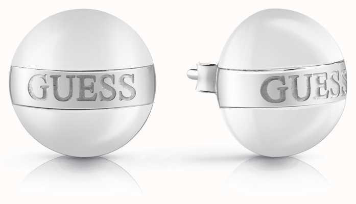 Guess   Icicle   White Enamel Earrings   Guess Logo   UBE78118