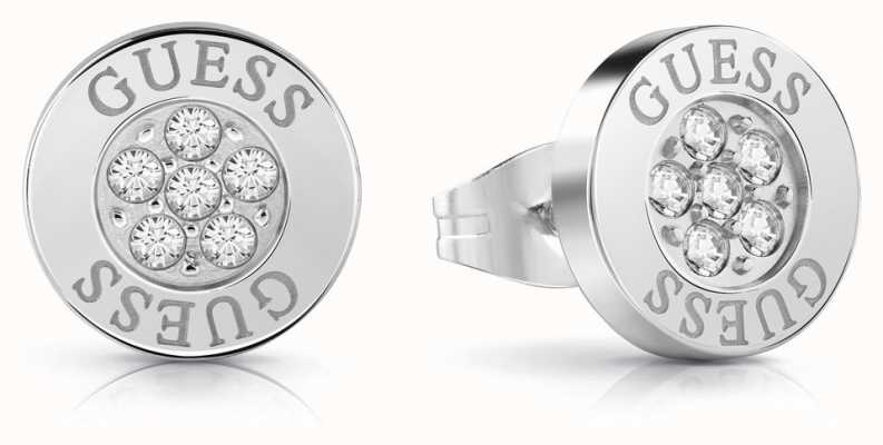Guess | Love Knot | Crystal Button Earrings | Silver | UBE78022