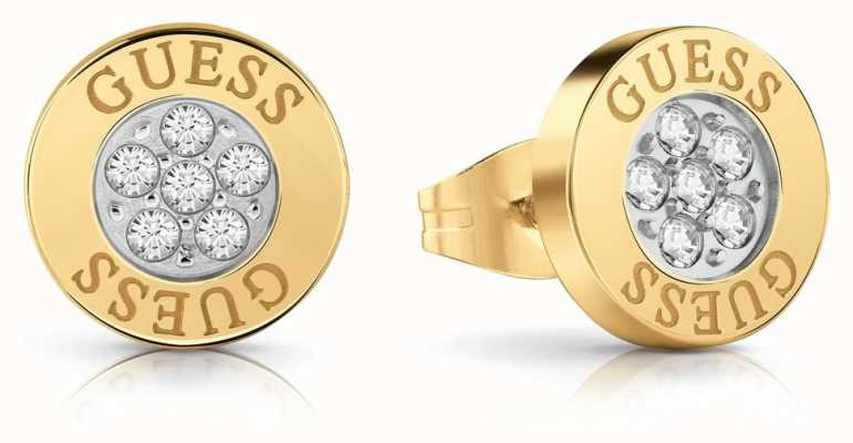 Guess | Love Knot | Crystal Button Earrings | Gold | UBE78023