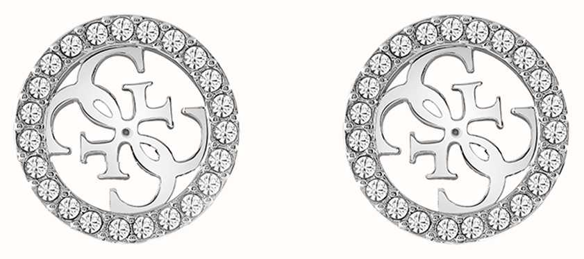 Guess | Tropical Sun | Silver Crystal Stud Earrings | UBE78004