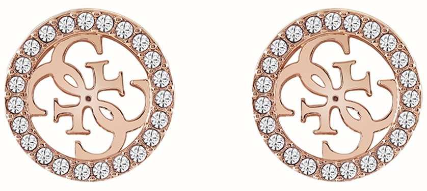 da4d7d1530 Guess | Tropical Sun | Rose Gold Clear Crystal Earrings | UBE78006 ...