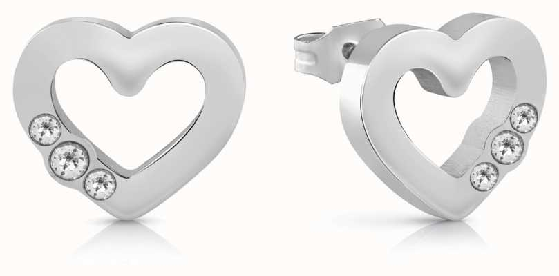 Guess | Unchain My Heart | Silver Heart Earrings | UBE78057