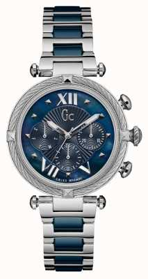 Gc | Womens CableChic | Stainless Steel | Blue Ceramic | Y16019L7MF