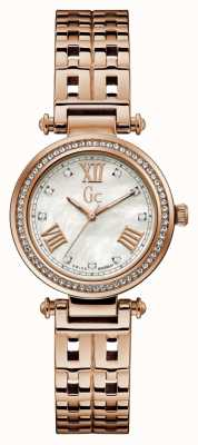 Gc | Womens PrimeChic | Rose Gold Stainless Steel | Silver Dial Y47003L1MF