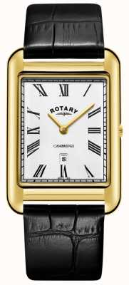 Rotary | Gents Gold Plated Bracelet | White Dial | GB05283/01