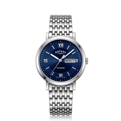 Rotary | Gents Stainless Steel Bracelet | Blue Dial | GB05300/66