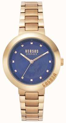 Versus Versace Ladies Rose Gold Bracelet | Blue Dial | VSPLJ0819
