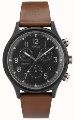 Timex | MK1 Steel Supernova Chrono | Leather Watch | TW2T29600D7PF