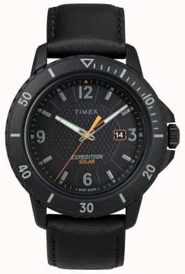 Timex | Gallatin Solar Black Leather | Black Dial | TW4B14700D7PF