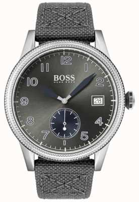 BOSS | Mens Grey Canvas Strap | Legacy Watch | 1513683