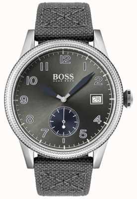 Hugo Boss | Mens Grey Canvas Strap | Legacy Watch | 1513683