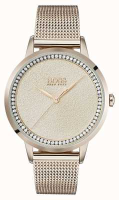 Boss | Ladies Pale Rose Gold Mesh Bracelet | 1502464