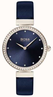 Boss | Ladies Blue Leather Strap | Blue Dial | 1502477