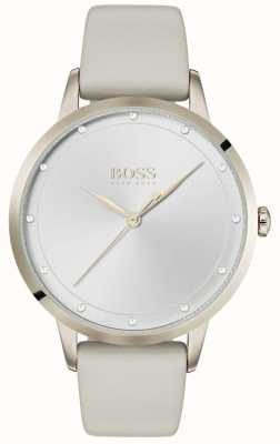 Boss Twilight | Ladies Grey Leather Strap | Silver Dial | 1502461