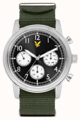 Lyle & Scott Men's Command Green Nato Strap Black Dial LS-6005-02
