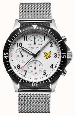 Lyle & Scott Mens Golden Eagle Stainless Steel Mesh Bracelet White Dial LS-6008-22