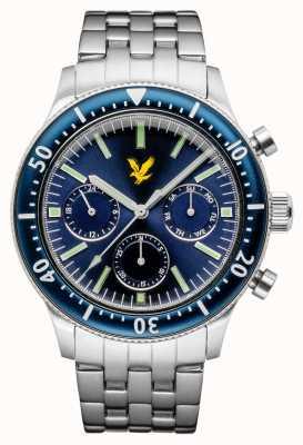 Lyle & Scott Mens Jacklin Stainless Steel Bracelet Blue Dial LS-6009-22