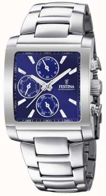 Festina | Mens Stainless Steel Chronograph | Blue Dial | F20423/2