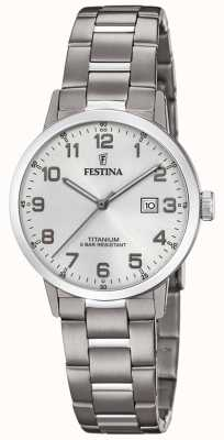 Festina | Womens Titanium Watch | Silver Dial | Titanium Bracelet | F20436/1