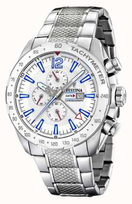 Festina | Mens Chronograph & Dual Time | Silver Dial| Steel Bracelet F20439/1