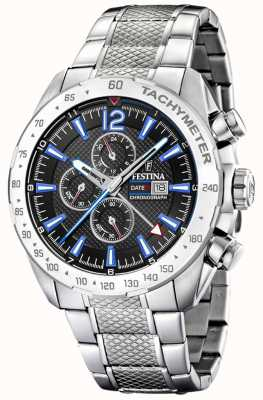 Festina | Mens Chronograph & Dual Time | BlackBlue Dial | F20439/5