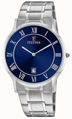 Festina | Mens Stainless Steel | Blue Dial | Steel Bracelet | F6867/2