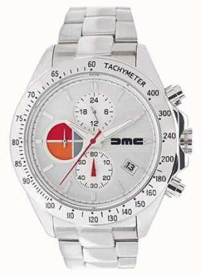 DeLorean Motor Company Watches 1981 Silver Leather | Silver Dial | Black Leather | DMC-7